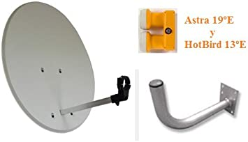 Kit de Antena parabólica 60cm con Accesorios + Receptor FTA ...
