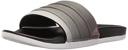 adidas Performance Women's Adilette CF+ Armad Athletic Slide Sandals, Black/Tech Rust White, (10 M US) (2 Pack)
