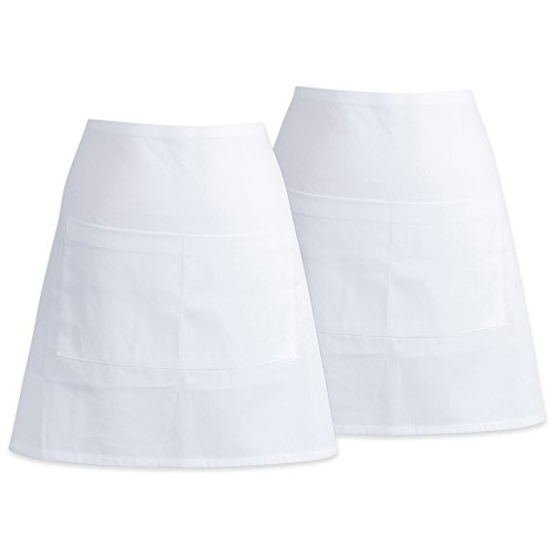 DII Cotton Commercial 2 Pockets Waist Half Apron, 28 x 18
