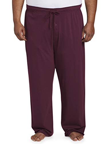 Amazon Essentials Men's Big and Tall Knit Pajama Pant fit by DXL, Burgundy, 3X