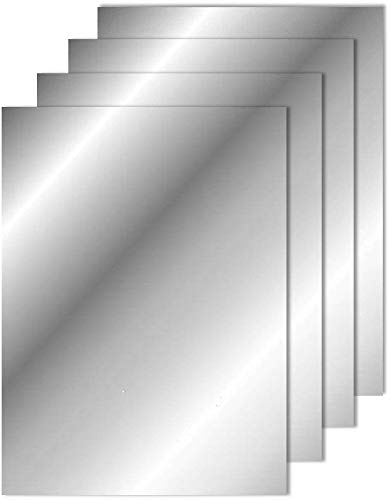 Flexible Mirror Sheets with Self Adhesive Back, 6 x 9 Inches, 4 -