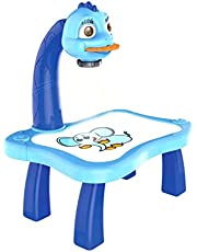 Trace and Draw Projector Toy, Kids Drawing Board Projector Table, Intelligent Projection Painting Machine Drawing Toy, Child Learning Desk, Projection Painting Machine Set for Children