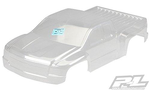 (Pro-line Racing Radio 338517 Pre-Cut Chevy Silverado Heavyduty Clear Body for Pro-2 Control Body)