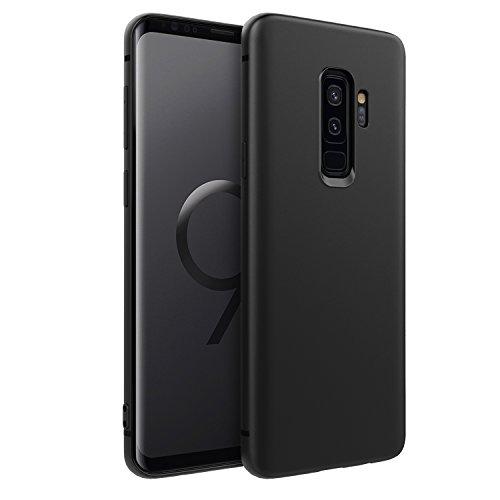 EasyAcc Case for Samsung Galaxy S9 Plus, Black TPU Cover Phone Case Matte Finish Slim Profile Phone Protectors Compatible with Samsung Galaxy S9+6.2