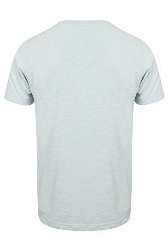 Tokyo Laundry Herren Blusen T-Shirt, Einfarbig weiß weiß Small Gr. Small, Illusion Blue