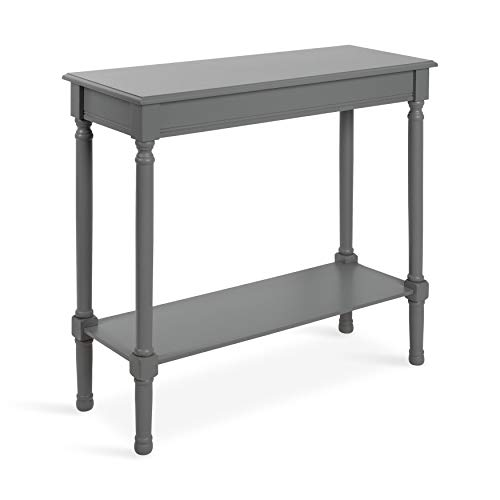 Kate and Laurel Wyndmoore Wood Rectangular Console Table with Shelf, Gray