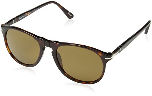 Persol Unisex PO9649S - Size 52 - Polarized Havana/Crystal Brown - Polarized Persol
