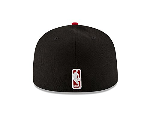 NBA Chicago Bulls Men's 2-Tone 59FIFTY Fitted Cap, 7.5, Black