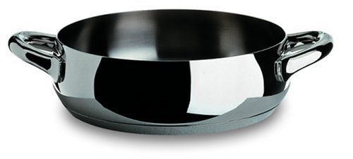 Alessi,SG102/24 ''MAMI'', Low casserole with two handles in 18/10 stainless steel mirror polished,2 qt 32 oz by Alessi