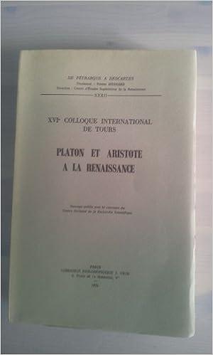 Télécharger en ligne Platon Et Aristote a La Renaissance pdf epub