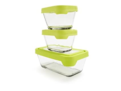 Amazoncom Anchor Hocking TrueSeal Glass Food Storage Containers