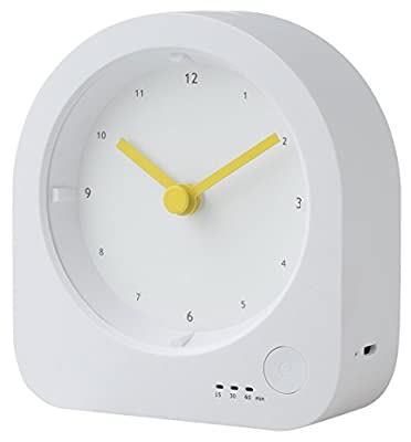 RTSU Rechargeable Desk Clock with Dimmable LED Night Light - Baby Nursery Kids Bedroom Bedside Lamp with Sleep Mode Timer - Digital Non Alarm Silent Quartz Analog Table Desktop Clock with Nightlight