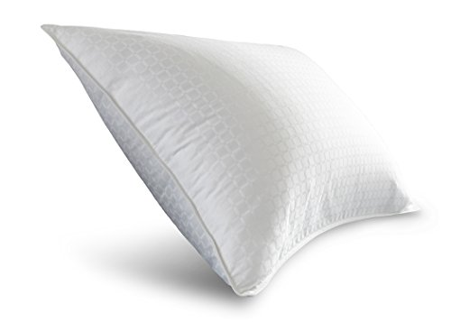 Spring Air 03621 Medium Support 300 Thread Count Cotton Dobby Won't Go Flat Pillow, King/20