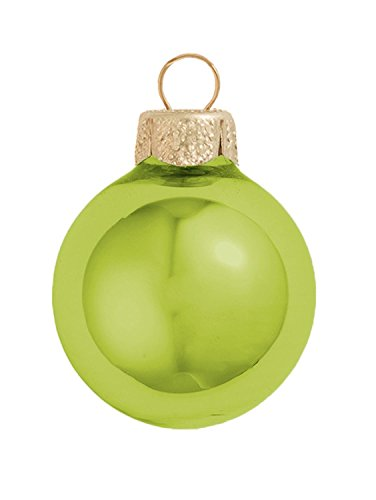 Soft Yellow Glass Ball Ornaments - Whitehurst Shiny Soft Yellow Glass Ball Christmas Ornament 7