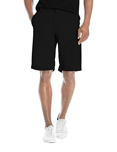 Mens Super Comfy Flex Flat Waist Shorts ASH45178 BLACK ()