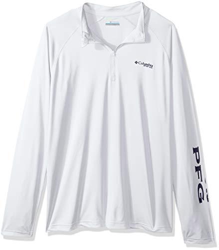 Columbia Men's Terminal Tackle Big & Tall 1/4 Zip Shirt, White, 3X