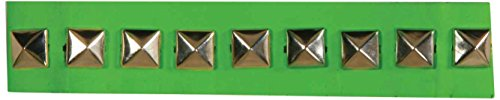Forum Novelties Women's 80's Novelty Neon Studded Choker, Green, One Size