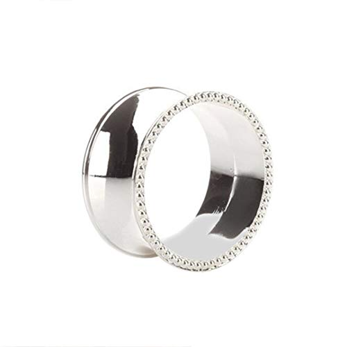 DOCOLA 2 pcs Stainless Steel Napkin Ring Napkin Holder for Weddings Table Dinners Parties Hotel Daily Use Table Decoration