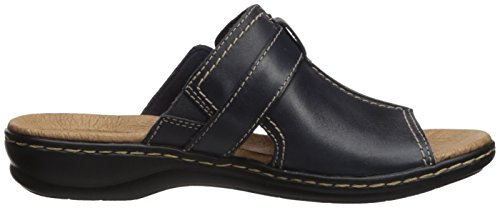 Clarks Donna Leisa Gianna Sandalo In Pelle Blu Navy