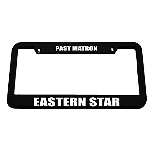 - Racing angel Metal License Plate Car Decoration- License Plate Frame Tag(12X6) Past Matron Eastern Star