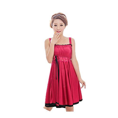 Camicie Abiti Donna e Moda Oversize Kawei Unicolor Abito Vestaglie Da Casual Stampate Tinta Kimono Notte Senza Rosso Unita Maniche q8ndEw
