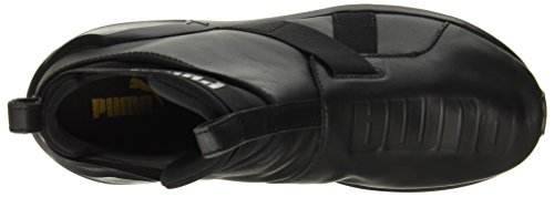 LEATHER WN'S NERO FIERCE PUMA STRAP 01 BLACK SNEAKERS 40 TOTAL 190569 Fw1P1tx7