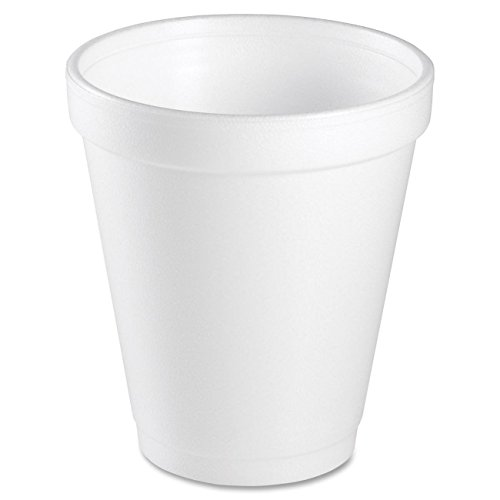 Dart 8 Oz White Disposable Coffee Foam Cups Hot and Cold Drink Cup (Pack of 75)