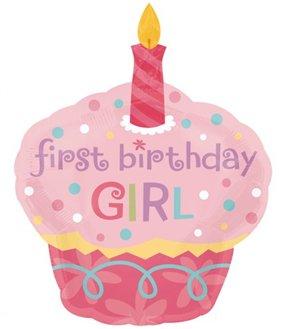 Anagram International Sweet Little Cupcake Girl Balloon, 36