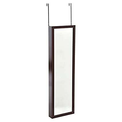 Over The Door, Wall Mounted Hanging Jewelry Closet Organizer Armoire With  Mirror  Cherry