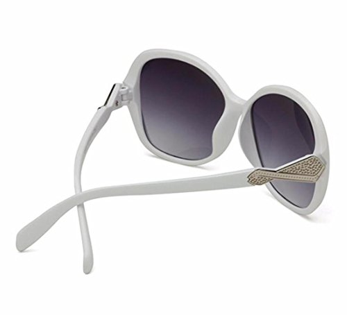 RDJM mujer de para b multicolor de espejo Opcional de UV400 tendencia d de gran lentes redondos marco Gafas sol rana AxCqAr
