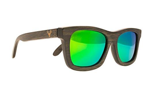Gafas Polarizadas 100% protección UV. Gafas de Moda de madera de bambú ecológico hechas a mano. Las mejores Gafas de Sol de madera, resistentes y ...