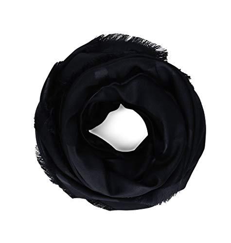 (Salvatore Ferragamo Women's 674672 Black Silk Foulard)