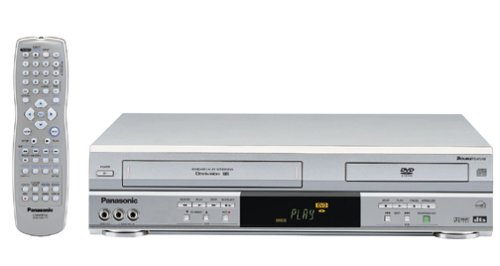Panasonic PV-D4743S Progressive-Scan DVD-VCR Combo , Silver (Recordable Player Dvd)