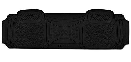 Zento Deals 1 Piece Diamond Black Universal Fit Heavy Duty Rubber Runner Vehicle Floor Mat (Car Floor Mats Monogrammed compare prices)