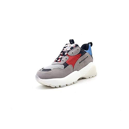 ZHZNVX Giallo Blu Creepers e Scarpe da pelle nappa in Comfort primavera estate Sneakers Scuro Yellow donna 6w6pqrHxT