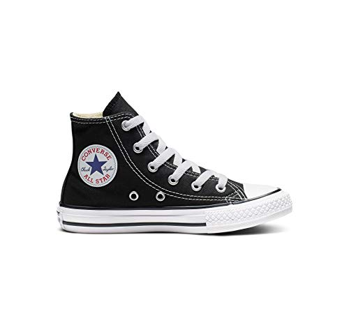 Converse Kid's Chuck Taylor All Star High Top Shoe, Black, 3 Little Kid (4-8 Years) Converse High Tops Girls