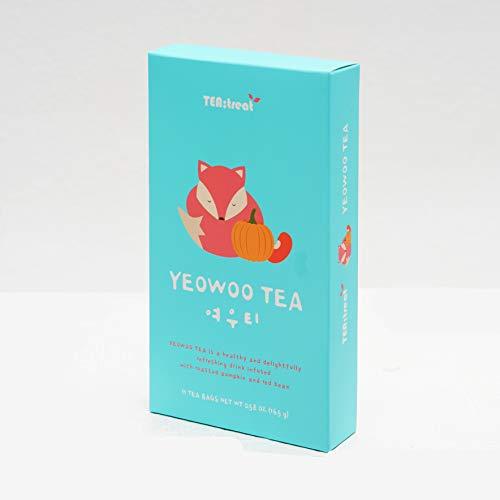 TEATREAT YEOWOO TEA, FOX TEA 1.5g x 11 Tea Bags, Red Bean & Pumpkin Tea