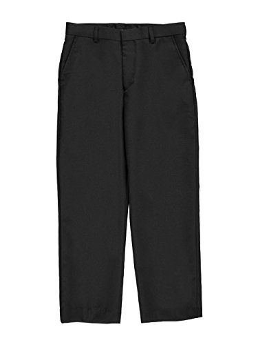 Charcoal Gray Dress Pants (Kidz World Vittorino Big Boys' Husky Flat Front Slim Fit Dress Pants - Charcoal Gray, 14)