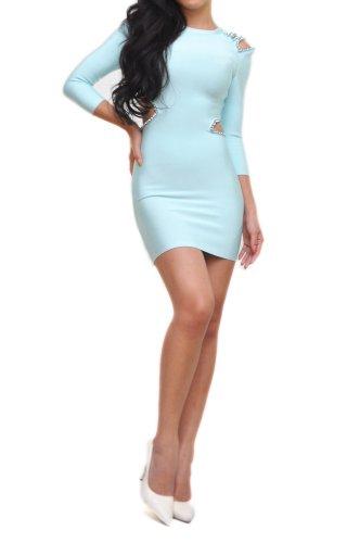 bcbg baby blue dress - 4