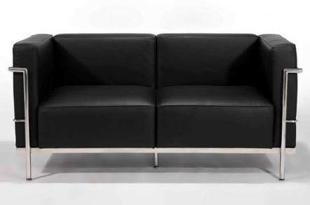 I4D LC3-C Design - Divano Le Corbusier a 2 posti, in Vera ...