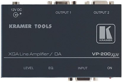- Kramer Electronics 1:2 VGA/UXGA Computer Graphics Video Line & Distribution Amplifier, 400MHz Bandwidth