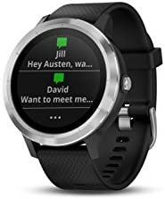 Garmin 010-01769-01 Vivoactive 3, GPS Smartwatch with Contactless Payments and Built-In Sports Apps, Black with Silver Hardware 314GHQKpbWL