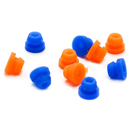 IDS 200pcs Silicone Tattoo Needle Grommets Nipples Rubber Grommet for Tattoo Machine ()