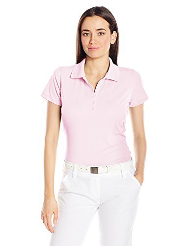 Antigua Women's Pique Xtra-Lite Desert Dry Polo Shirt, Pink, Large