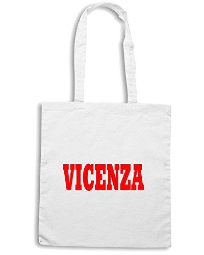 T-Shirtshock - Bolsa para la compra WC0877 VICENZA ITALIA CITTA STEMMA LOGO Blanco