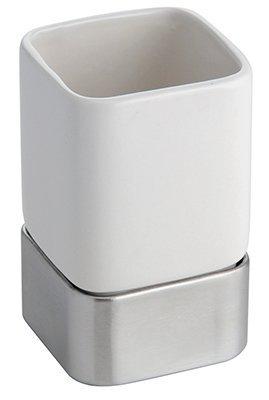 Interdesign 16170 Gia White Ceramic With Stainless Steel Acc