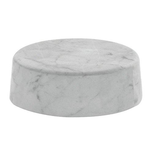 "Round Marble Look Display Riser White - 6""Dia x 2""H"