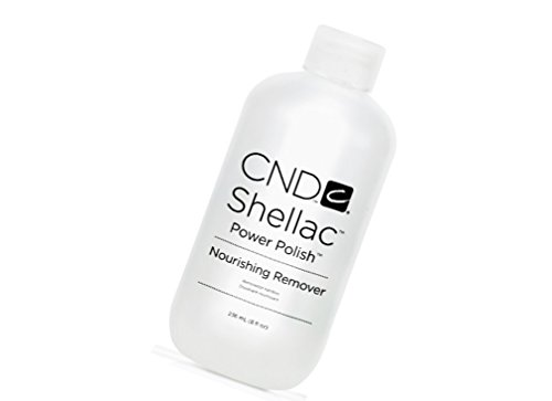 Shellac Power Polish Nourishing Remover Reduces dehydration of nails and surrounding skin: 8 fl.oz Pure Adhesive Remover