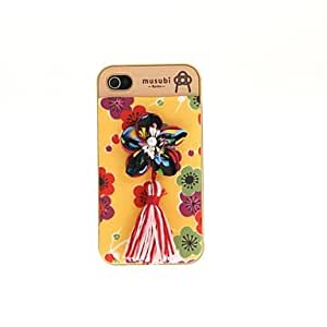 JOE Korean Version Cloth Flowers Series Yellow bottom color flowers Hard Back Case for iPhone 4/4S