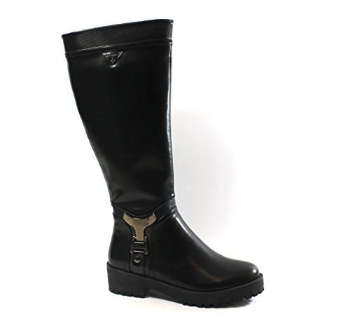 Nero mujer 1759 negra bota tacón cremallera BIAGIOTTI LAURA negra bajo de 7vUxa8FwqF